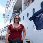 Aquela foto clássica ao lado do navio